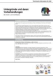 Technische Information Nr. 650 - Caparol