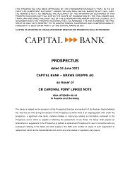 prospectus - Capital Bank