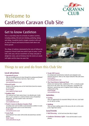 Welcome to Castleton Caravan Club Site - The Caravan Club