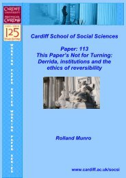 Paper 113: This Paper's Not for Turning - Cardiff University