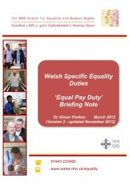 Equal Pay Duty Briefing Note for the NHS CEHR - Cardiff University
