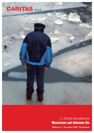 _3. Zürcher Armutsforum Menschen auf dünnem Eis - Caritas Zürich