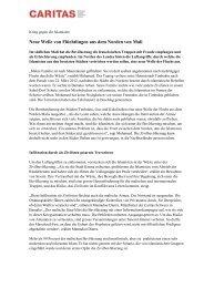 Krieg gegen die Islamisten - CARITAS - Schweiz
