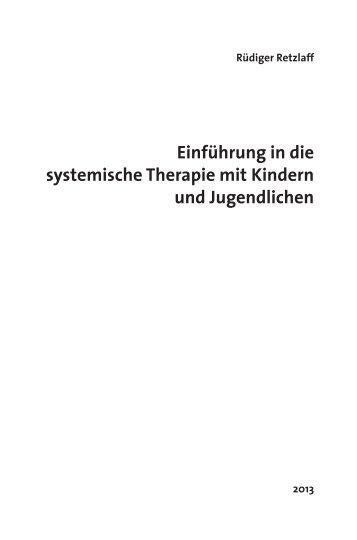 Einführung in die systemische Therapie mit ... - Carl-Auer Verlag