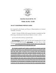 Public Act No. 13-254 - Connecticut General Assembly