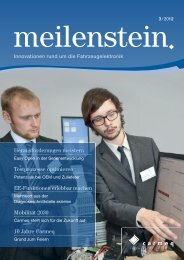 Meilenstein Ausgabe 3/2012 - Carmeq GmbH