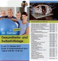 Gesamtprogramm 9. und 10. Oktober 2013 - Sanitäts- und ...
