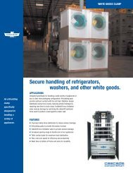 Secure handling of refrigerators, washers, and other white goods.