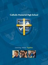 Catholic Memorial High School focuses on learning and living ...