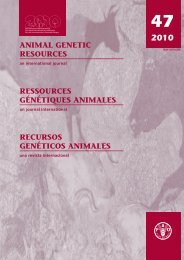 Animal Genetic Resources - Convention on Biological Diversity