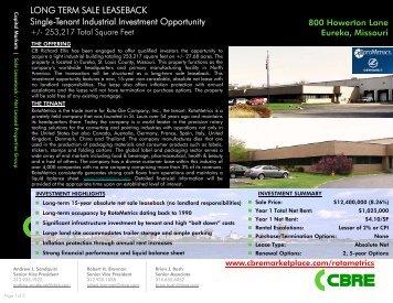 Property Brochure - CBRE