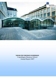 Copenhagen Business School Annual Report 2007 - CBS