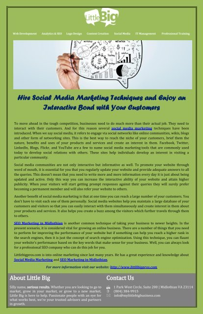 Hire Social Media Marketing Techniques And Enjoy An Interactive