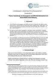 Thema: Gestaltung von Kampagnen und Öffentlichkeitsarbeit mit ...