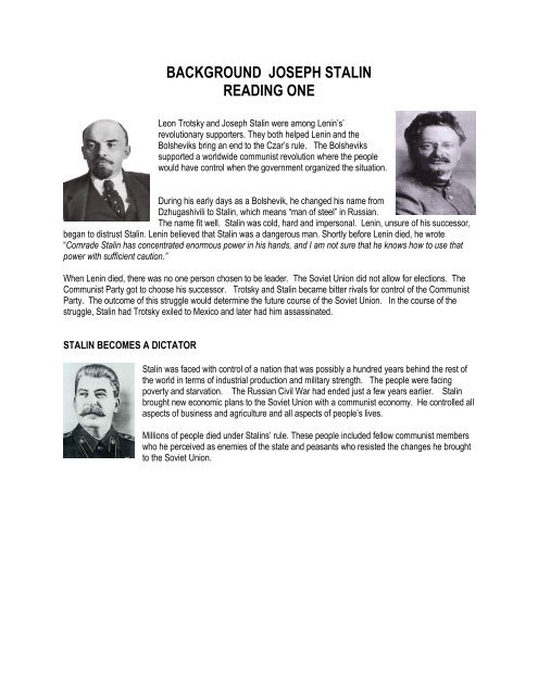 how did stalin become a dictator