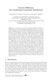 Greater Efficiency for Conditional Constraint Satisfaction - College of ...