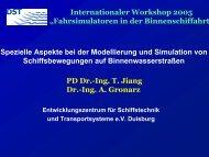 """Internationaler Workshop 2005 """"Fahrsimulatoren in der ..."""