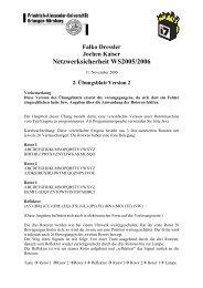 Netzwerksicherheit WS2005/2006