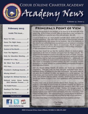 Feb - Coeur d'Alene Charter Academy