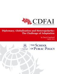 Diplomacy, Globalization and Heteropolarity - Canadian Defence ...
