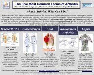 The Five Most Common Forms of Arthritis Osteoarthritis ...
