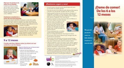 Alimentacion para bebes de 6 meses pdf