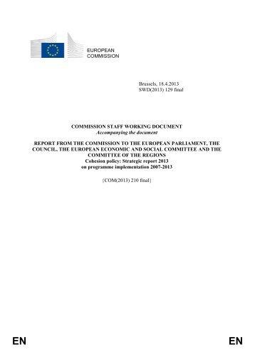 Staff Working Document - EUR-Lex - Europa