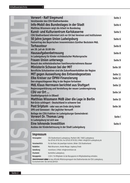 50 Jahre - CDU Ludwigsburg