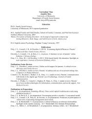 Curriculum Vitae Jennifer Doty University of Minnesota Department ...