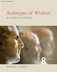 Archetypes of Wisdom: An Introduction to ... - CengageBrain