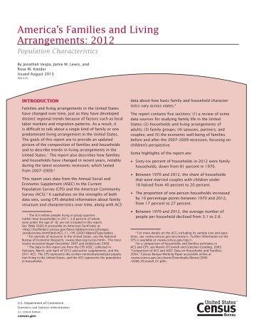 America's Families and Living Arrangements - U.S. Census Bureau