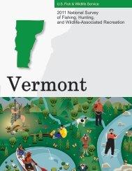2011 National Survey of Fishing, Hunting, and ... - Census Bureau