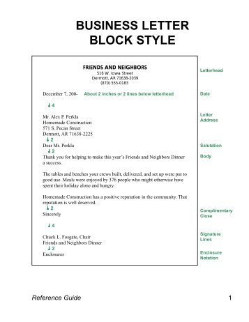 Blocked Style Business Letter Altin Northeastfitness Co