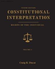 Constitutional Interpretation: Rights of the Individual ... - CengageBrain