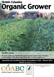 Winter 2013 - Certified Organic Associations of British Columbia