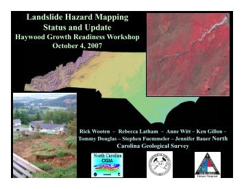Landslide Hazard Mapping Status and Update