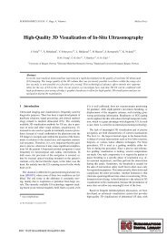 High-Quality 3D Visualization of In-Situ Ultrasonography