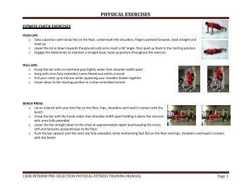 CSOR Physical Exercises