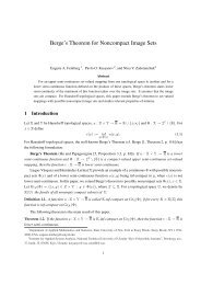 Berge's Theorem for Noncompact Image Sets - Department of ...