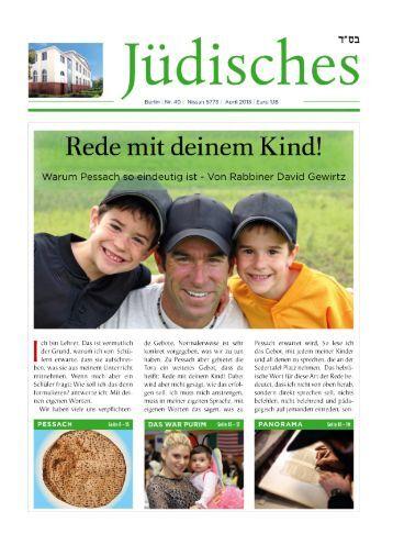 Die 40. Ausgabe von Jüdisches - Chabad Lubawitsch - Berlin