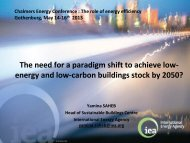 The need for a paradigm shift to achieve low- energy and low ...