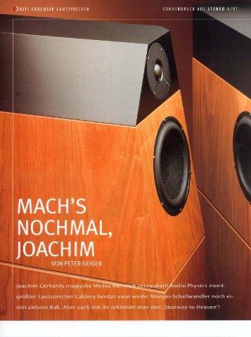 hifi exklusiv sonderdruck aus stereo 4/97 german - Audio Physic
