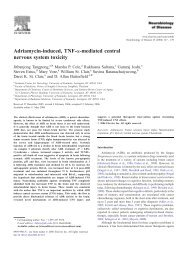 Adriamycin-induced, TNF-a-mediated central nervous system toxicity