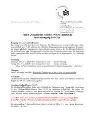 """Modul """"Organische Chemie 1"""" für Studierende im Studiengang BSc ..."""