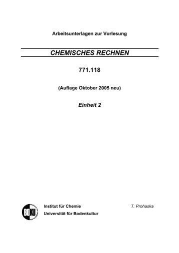 CHEMISCHES RECHNEN