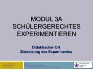 Problemlösungsexperiment - Fachbereich Chemie