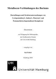Metallocen-Verbindungen des Bariums - Chemie - Universität ...