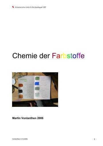 Chemie mit dem blauen Farbstoff der Smarties Projektarbeit mit ...