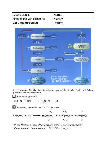 Lösungsvorschlag - Chemie und ihre Didaktik, Universität Wuppertal