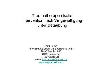 Vortrag: Traumatherapeutische Intervention nach ... - Chemnitz